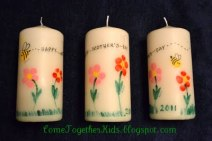 Mothers Day finger print candles